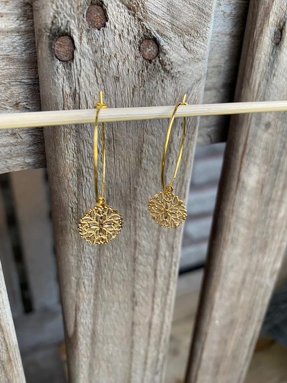 Örhängen – Mandala, guld