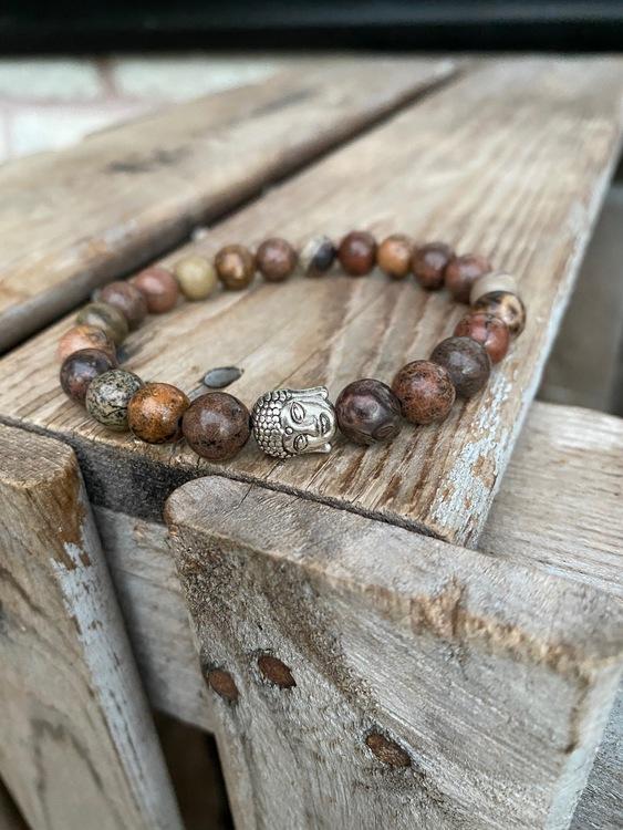 Armband – Jaspis & buddha