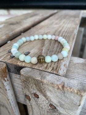 Armband – Amazonit & buddha