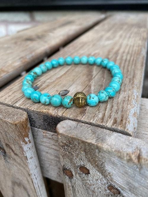 Armband – Magnesit & buddha
