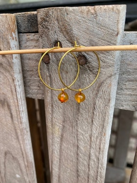 Örhängen – Bärnsten, ljus