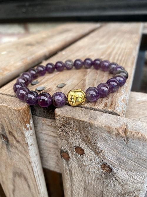 Armband – Ametist & buddha