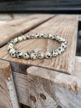 Armband – Dalmatinerjaspis & buddha