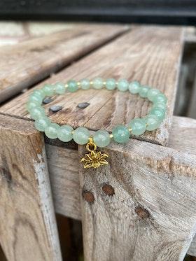 Armband – Aventurin & lotus