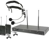 Chord NU2 Dubbelt Bodypacksystem - Frekvens: 863.8 MHz + 864.8MHz