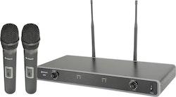 Chord NU2 Dubbelt Handmicksystem - Frekvens: 863.3 MHz + 864.3MHz