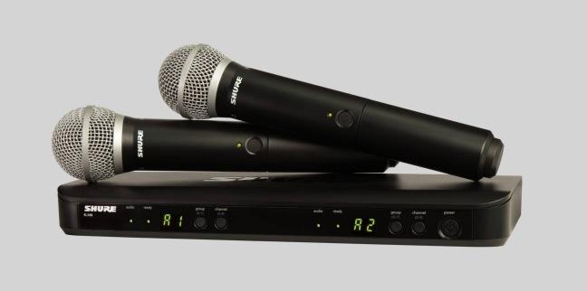 Shure BLX1288/PG58 Dubbelt Trådlöst sångsystem