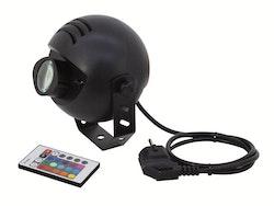 LED Pinspot RGB med fjärrkontroll