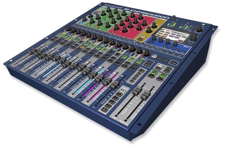 Soundcraft Si Expression 1, 66 ingång till mix, 20 Aux bus, 4 MTX, 4 FX, 16 reglar