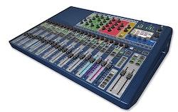 Soundcraft Si Expression 2, 66 ingång till mix, 20 Aux bus, 4 MTX, 4 FX, 24 reglar