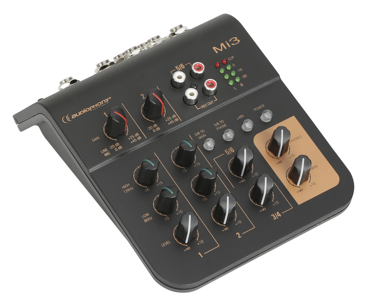 AUDIOPHONY Mi 3 4 kanals mixer, 2 mic + 2 stereo