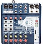 Soundcraft Notepad 8FX, mixer med inbyggd FX, USB NYHET