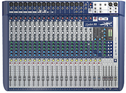 Soundcraft Signature 22, 22-kanals mixer m FX, USB 2/2