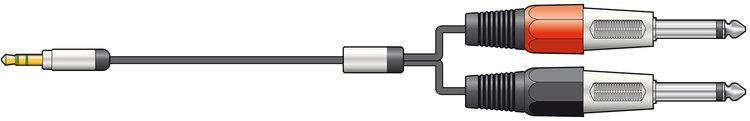 Chord Minitele > 2 x 6.3 mm tele 3m