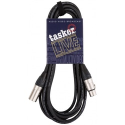 Tasker XLR Kabel Pro 5m Proffskabel