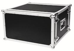 Rackcase 6HE Trä Effekt/Grund 24 cm
