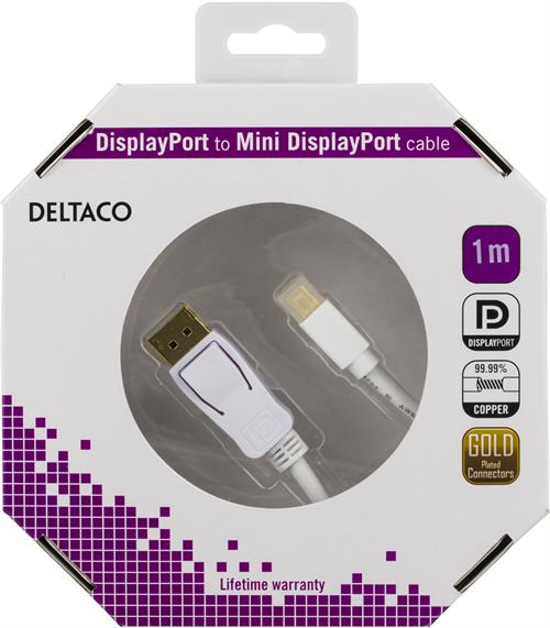 Deltaco DisplayPort till Mini Displayport kabel