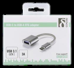 Deltaco USB-C 3.1 Gen 1 till USB-A OTG adapter