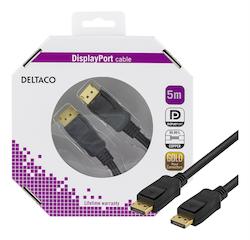 Deltaco DisplayPort monitorkabel, Ultra HD