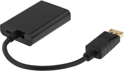 Deltaco DisplayPort till VGA-adapter med ljud, Full HD