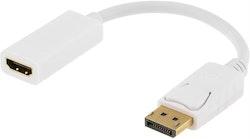 Deltaco DisplayPort till HDMI-adapter med ljud