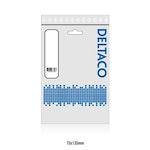 DELTACO U/UTP Cat6 patchkabel, 0,5m, 250MHz Vit