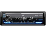 JVC KD-X372BT Enkeldin, USB/AUX på front, kort chassi, 4x50W, Blåtand