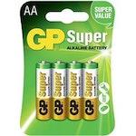 Batteri - AA/LR6, 4-pack - GP Super