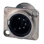 Neutrik XLR 5polig Chassi Hane Pro NC-5MD-L-1