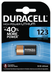 Duracell Ultra Lithium Photo CR123 Batteri, 1-Pack, long-life, silver