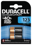 Duracell Photo CR123 Batteri, 2-Pack, long-life, silver