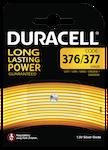 Duracell 376/377 Knappcellsbatteri, 1-Pack, long-life, silver