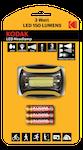 Kodak LED Headlamp, 150lm, 3 lägen(Normal, Eco, blink), 3W LED-lampa, IP44, svart