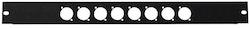Rackpanel för 8st XLR-Chassie