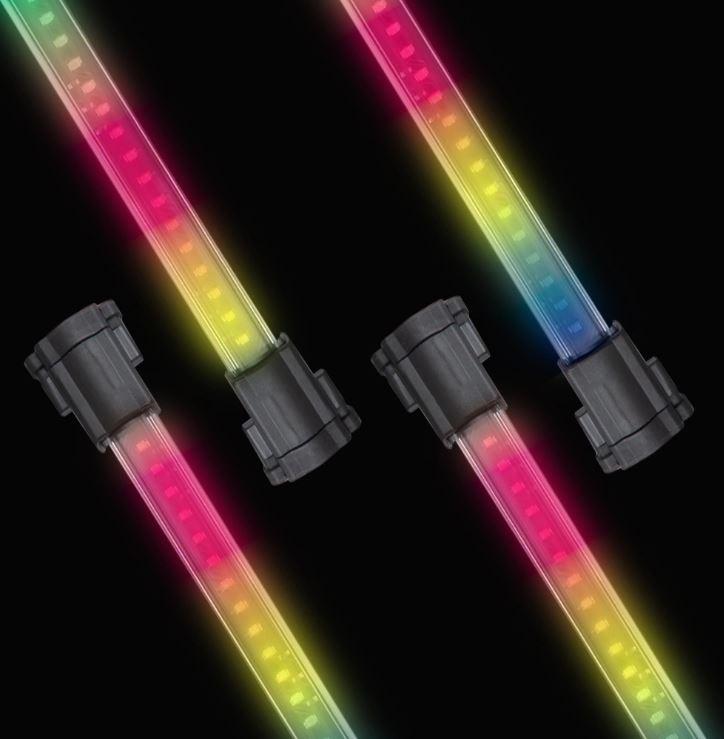 "Lightz 4x12"" LED-interiörbelysning, flerfärg"