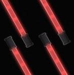 "Lightz 4x9"" LED-interiörbelysning, Röd färg"