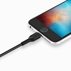 HOCO Flash X20 iPhone Lightning Kabel, 3M, Svart