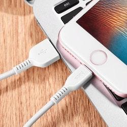 HOCO Flash X20 iPhone Lightning Kabel, 2M, Vit