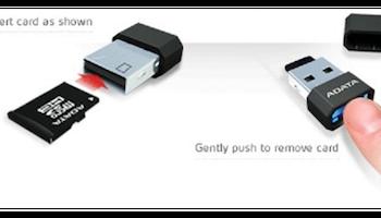 ADATA microReader Ver.3 USB 2.0 microSD-kortläsare