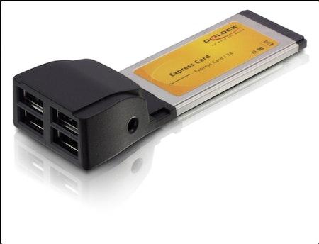 Delock Express Card > 4x USB 2.0