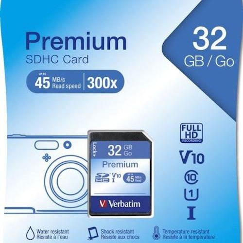 Verbatim minneskort, SDHC, 32GB, Secure Digital High-Capacity, Class 10