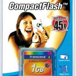 Transcend 1GB High Speed CompactFlash Memory Card