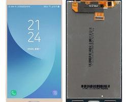 Samsung J300f LCD Skärm i Guld färg