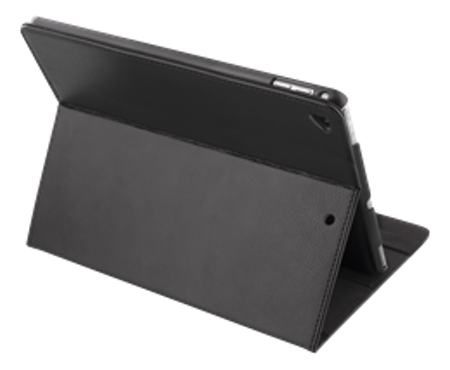 """DELTACO fodral för iPad Pro 12,9"""", passar 2015- och 2017 års modeller, sleep/wake, konstläder, stödfunktion, svart"""