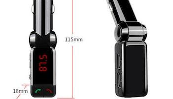 BC06 Bluetooth Handsfree Billaddare MP3-spelare FM-sändare - Svart