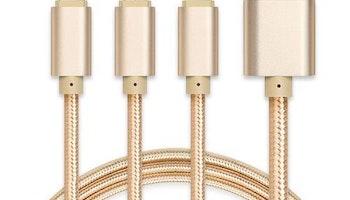 3-i-1 USB-laddning och datasynkabel, typ C, blixt 8-polig, mikro USB-kabel, snabb laddning