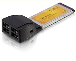 Delock Express Card 4x USB 2.0