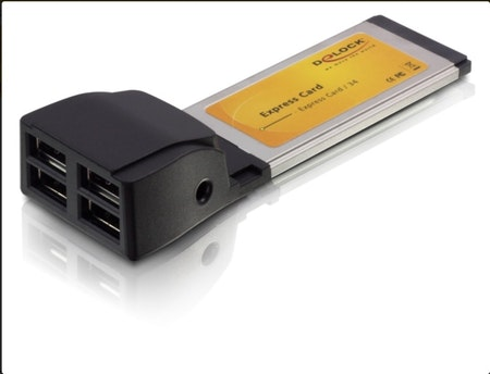 Delock Express Card > 4x USB 2.0