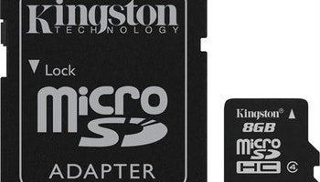 Kingston minneskort, microSDHC, 8GB, micro Secure Digita