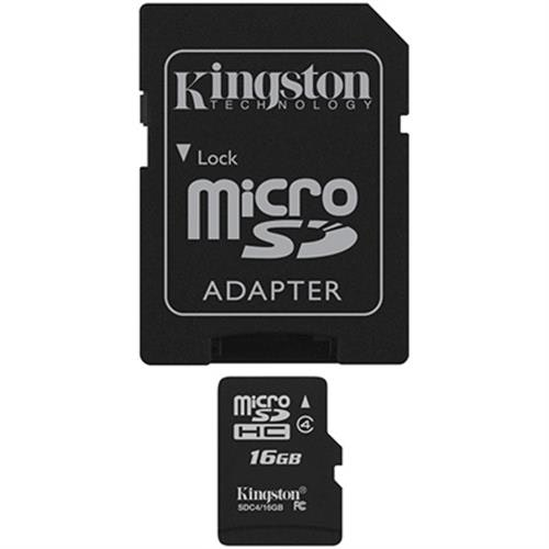 Kingston minneskort, microSDHC, 16GB, micro Secure Digital